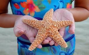 Girl Holding Starfish